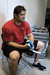 Pro athlete using PEMF device